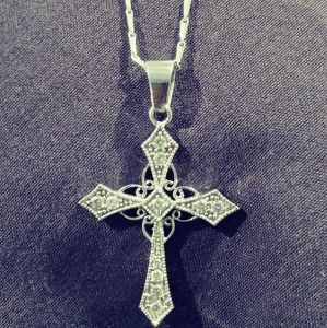 Real 14kt Gold Cross Necklace